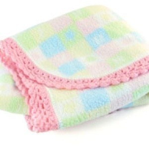 Crochet Edge Around a Fleece Blanket