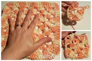 Making a Granny Square Crochet Dishcloth
