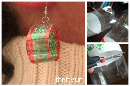 Making Earrings from Plastic Drink Bottles