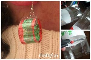 Making Earrings from Plastic Drink Bottles
