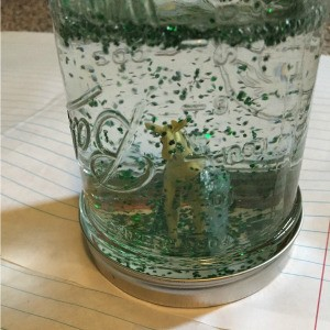 Jar Snow Globe - completed jar