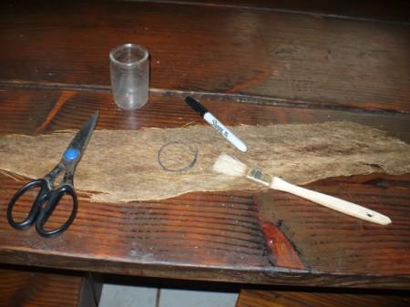 Coconut Fiber Candle Holders