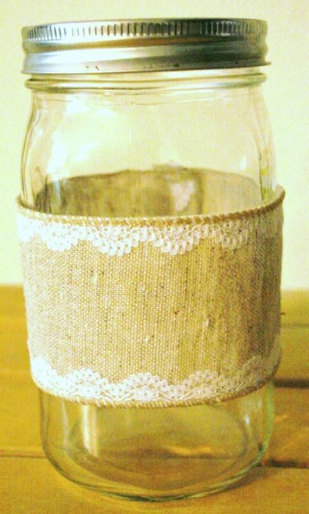 jar with ribbon cuff