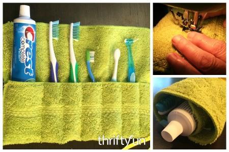 Washcloth Travel Toothbrush