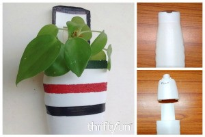 Making a Shampoo Bottle Planter
