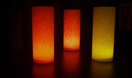 "Paper ""Tea Light"" Shades"