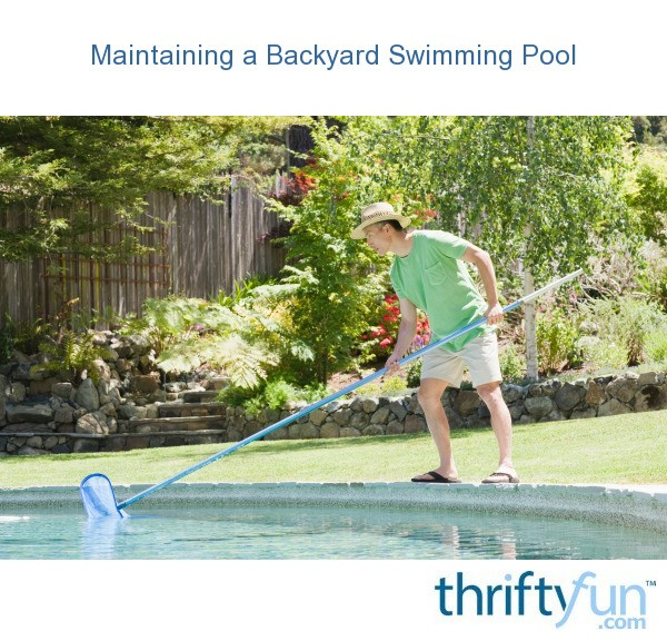 Maintaining a Backyard Swimming Pool | ThriftyFun