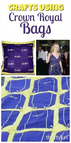 crafts using crown royal bags
