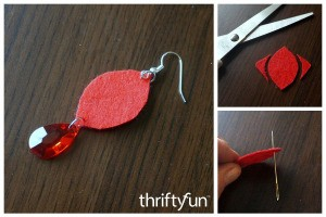 Making Felt Teardrop Earrings
