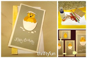 Making a Hatching Chick Birthday Card