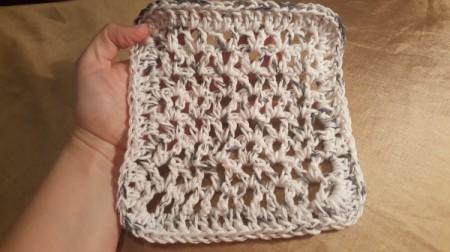 Crocheted V-Stitch Dishcloth - finished dishcloth