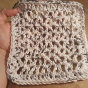 Crocheted V-Stitch Dishcloth - finished dishcloth