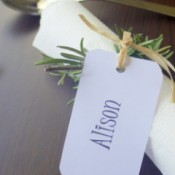 Rosemary Serviette (Napkin) Rings