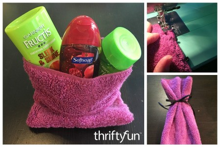 Making a Washcloth Gift Bag