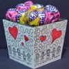 gift box filled with lollipops