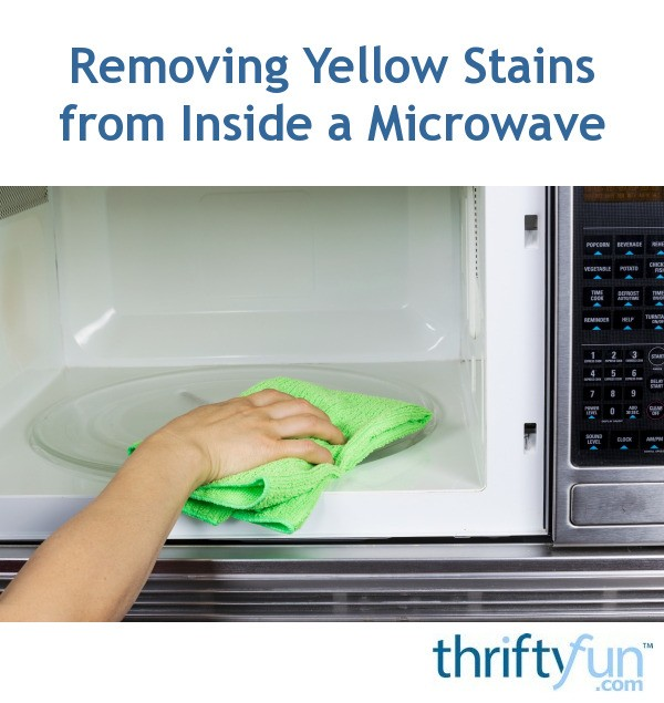 how to clean microwave stains