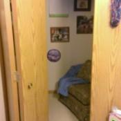peek through door into closet nook conversion