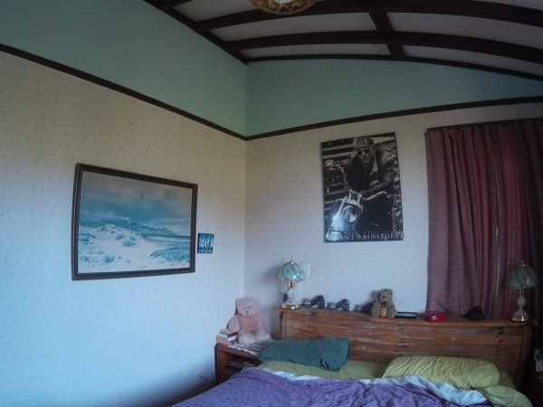 Room Wth Beams On Ceiling Painting A ...