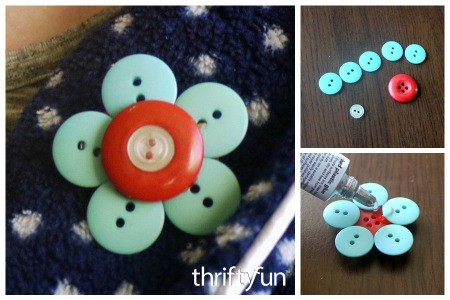 Making a Button Brooch
