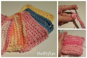 Making Tunisian Crocheted Sponges