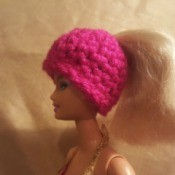 Making a Crochet Ponytail Hat for a Barbie Doll