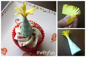 Making a Mini Party Hat Cupcake Topper