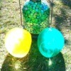 Making Colored Ice Globes