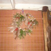 Dried Banana Leaves and Flower Wreath