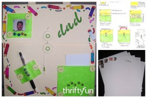 Make Personalized Stationery for Dad