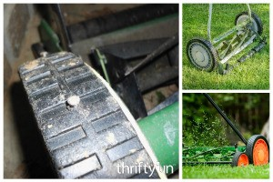 Fixing Reel Mower Treads