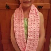 Making a Fan Stitch Crochet Cowl