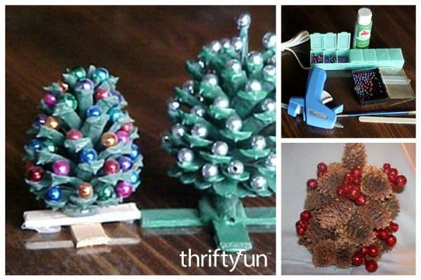 making pinecone christmas trees - Homemade Pine Cone Christmas Decorations