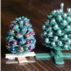 Making Pinecone Christmas Trees