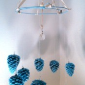 Making a Pine Cone Chandelier