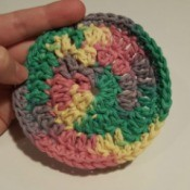 Making Crocheted Coasters