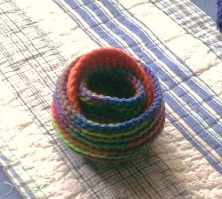 Crocheted Nesting Baskets in Two Versions