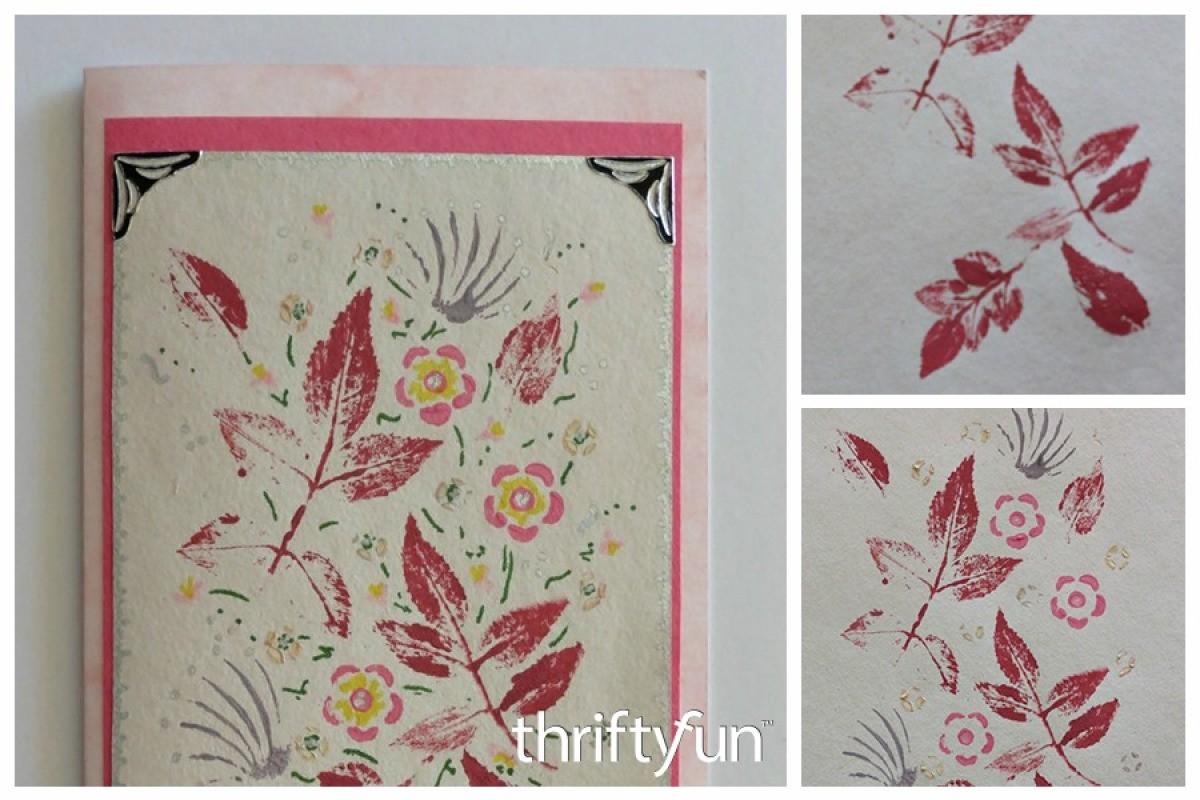 Making a Leaf Print Birthday Card | ThriftyFun