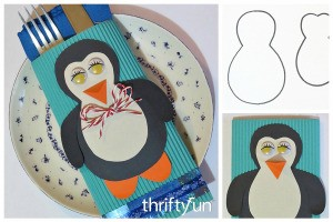 Making a Penguin Cutlery Holder