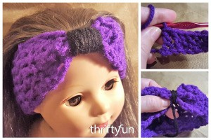 Making a Crochet Bowband for an American Girl Doll