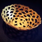 gold glue basket bowl
