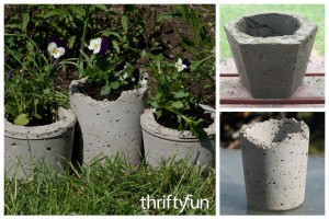 Making Hypertufa Planters