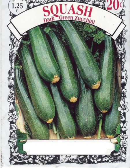 zucchini seed package