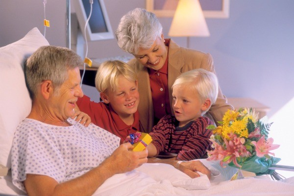 Gift ideas for someone that is dying thriftyfun grandmother and grandchildren bring gifts to grandfather who is in a hospital bed expocarfo Gallery