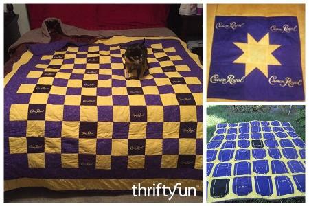 Making Crown Royal Bag Quilts