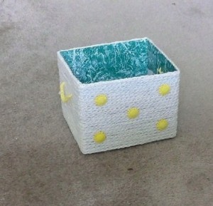 Crochet Chain Covered Box