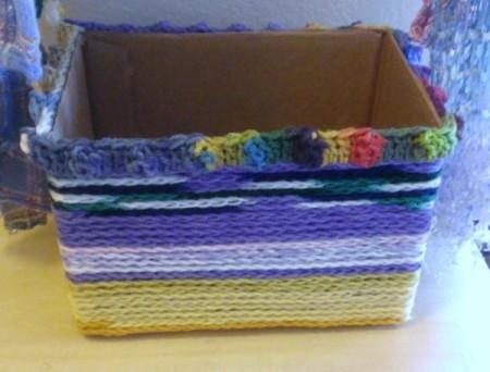 Crochet Chain Covered Box