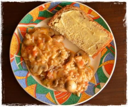 Spicy Mushroom and Rice Stir Fry
