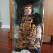 Seymour Mann Doll wearing tiger stripe coat