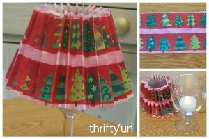 Recycled Wrapping Paper Christmas Lamps