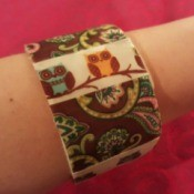 Making Recycled Cardboard Tape Roll Bangles
